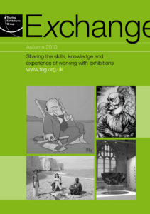 Front cover of Exchange Autumn 2010 with various black and white photographs on green background
