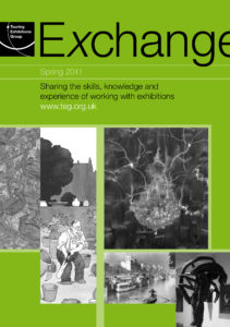 Front cover of Exchange Spring 2011 with various black and white photographs on green background