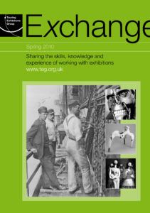 Front cover of Exchange Spring 2010 with various black and white photographs on green background